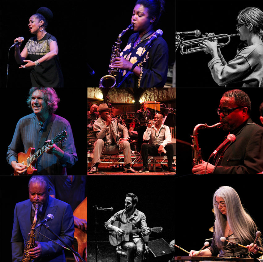 Collage of photos of artists who performed at Hull Jazz Festival in 2018